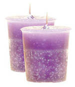 Raspberry Crystal Journey Traditional Votive Candles [ 2 ]
