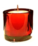 DISCONTINUED - Votive Holder - Red Glass