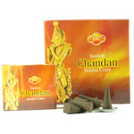 Sandesh (SAC) Cone Incense - Chandan (Sandalwood)
