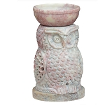 Soapstone Oil Burner - Owl