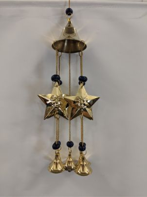 Wind Chime - Stars w/ Blue Bead