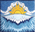 #5-Sun Wave Indian Tapestry