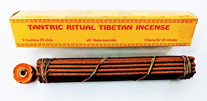 Tantric Ritual Tibetan Incense - 30 Sticks w/ Holder