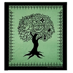 #12-Green Tree Of Life Tapestry