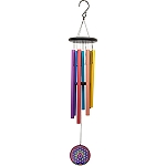 Tuned Windchime - 38 inches Seven Chakras w/Flower of Life