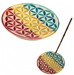 Stone Burner - Flower of Life - Multicolored