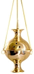 Metal Burner - Charcoal Burner - Brass Hanging Incense Censer 8