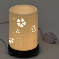 White Floral Electric Aroma Lamp