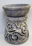 Soapstone Oil Burner - Magic Vine