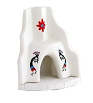 Incienso de Santa Fe - WHITE Southwest Fireplace Incense burner w/Pinion Incense
