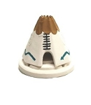 Incienso de Santa Fe - WHITE Teepee Incense burner w/Pinon Incense