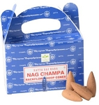 Satya Backflow Cones - Nag Champa - [24 pc]