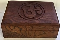 Wooden Box - Carved OM
