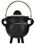 Pentacle Cast Iron Cauldron w/lid 3