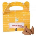 Satya Backflow Cones - Sandalwood - [24 pc]