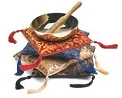 Brocade Singing Bowl Pad