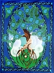 Tree Of Life Man - Cotton Tapestry