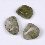 Tumbled & Polished Tourmlinated Quartz