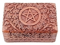 Wooden Box - Carved Pentacle
