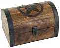 Wooden Box - Pentacle Wooden Chest