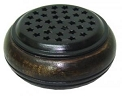 Wooden Metal Screen Charcoal Burner w/ Stars 3