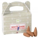 Satya Backflow Cones - White Sage - [24 pc]