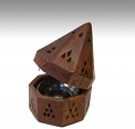 Charcoal Burner - Wooden Temple Cone<br><br>