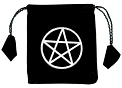 Pentacle Drawstring Velvet Bag