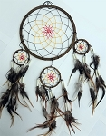 Dream Catcher - Extra Large Room Cleanser (Brown w.Red & Orange Chord)