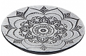 Stone Burner - Lotus Mandala - Black