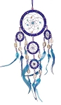 Dream Catcher - Large Blue Beaded