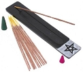 Soapstone Incense Ash Catcher- Star Black  <br><br>