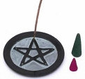 Soapstone Incense Burner - Star Black  <br><br>