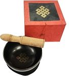 Singing Bowl - Tibetan Eternal Knot Meditation Box