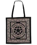 Gold Pentacle Tote Bag <br><br>