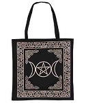 Gold Triple Moon Pentacle Tote Bag <br><br>
