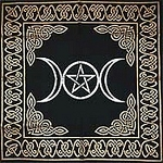 Black & Gold Pentacle - Altar Cloth (72