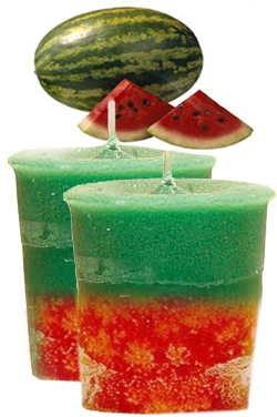 Watermelon Crystal Journey Traditional Votive Candles [ 2 ]