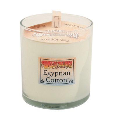 Wild Berry Egyptian Cotton Candle - 8oz Glass Candle