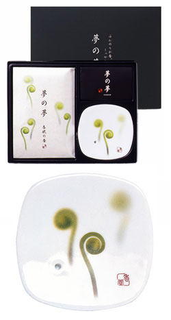 Yume-No-Yume Fiddle Head Fern Japanese Incense Gift Set