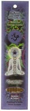 Prabhuji's Gifts Chakra Incense - Third Eye (Ajna) - 10 Stick