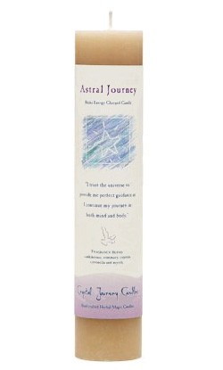 Crystal Journey Herbal Magic Pillar Candle - Astral Journey