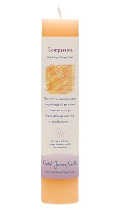 Crystal Journey Herbal Magic Pillar Candle - Compassion