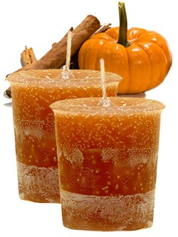 Pumpkin Crystal Journey Traditional Votive Candles [ 2 ]