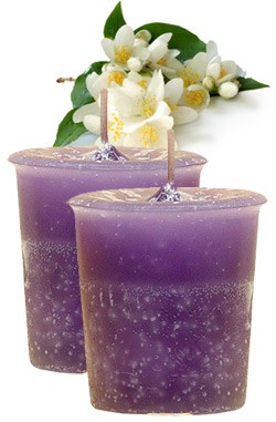 Jasmine Crystal Journey Traditional Votive Candles [ 2 ]