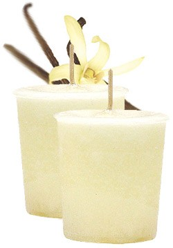 French Vanilla Crystal Journey Traditional Votive Candles [ 2 ]