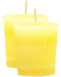 Laughter Crystal Journey Herbal Magic Votive Candles [ 2 ]