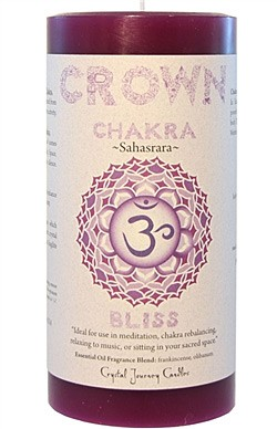 Crystal Journey Chakra Pillar Candle 3