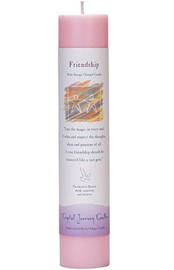 Crystal Journey Herbal Magic Pillar Candle - Friendship