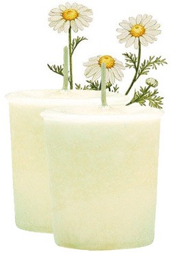 Chamomile Crystal Journey Traditional Votive Candles [ 2 ]